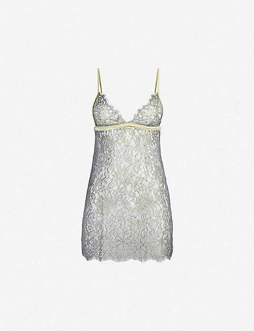 COCO DE MER Flora lace slip dress 36a7c1b484d