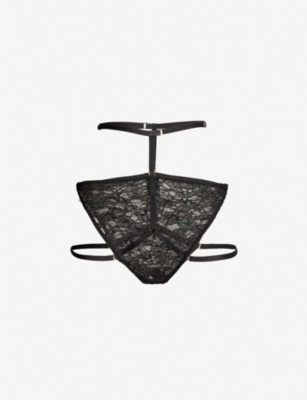 PLAYBOY BY COCO DE MER Tempt Me satin and lace briefs