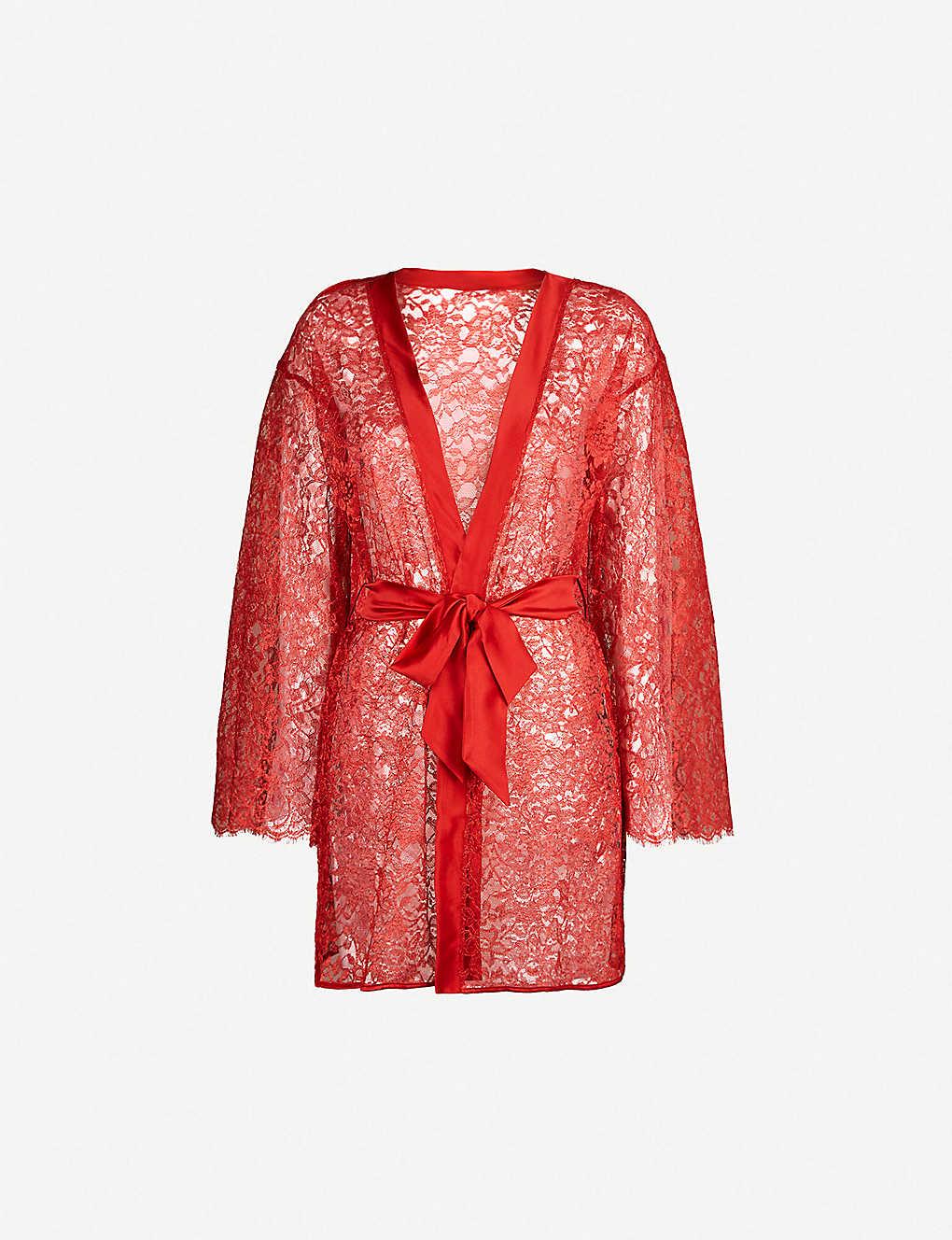 bfe787ebc COCO DE MER - Venus stretch-lace and satin robe