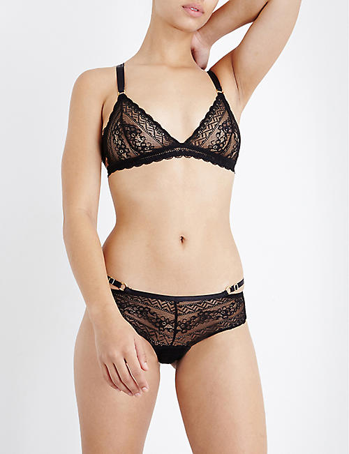 PALINDROME Panthera stretch-lace soft-cup lace bra