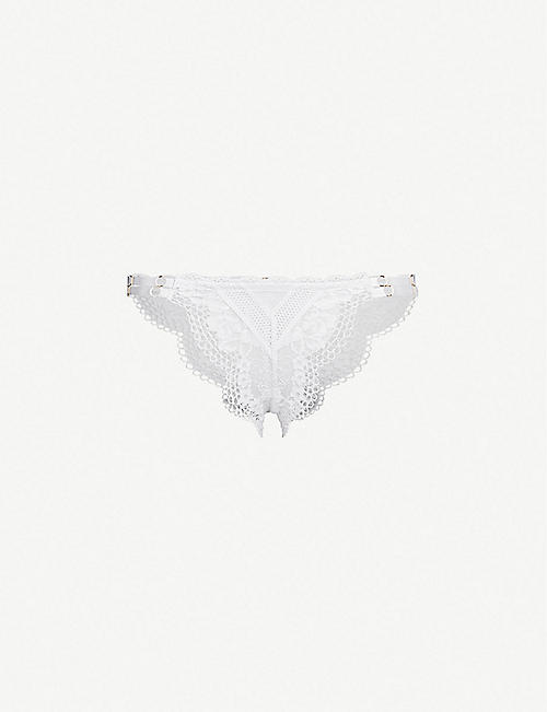 PALINDROME Dreamlover high-rise floral lace briefs