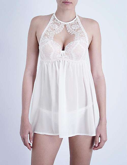 PALINDROME Majesty mesh and stretch-lace babydoll
