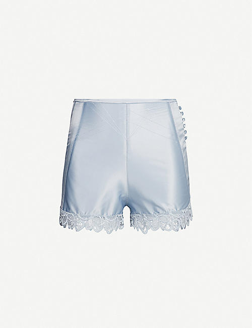 PALINDROME Sugar high-rise satin French shorts