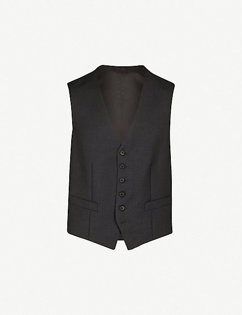 GIEVES & HAWKES Single-breasted wool waistcoat