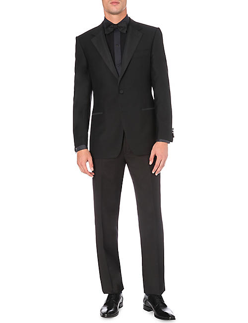 GIEVES & HAWKES Regular-fit wool and mohair-blend dinner jacket