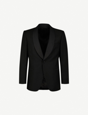 GIEVES & HAWKES Regular-fit wool and mohair-blend tuxedo jacket