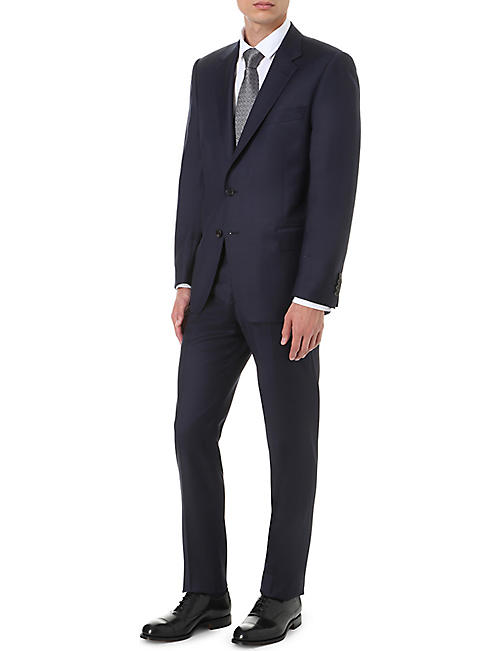 GIEVES & HAWKES Regular-fit straight wool trousers