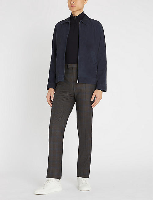 GIEVES & HAWKES Turtleneck half-zip wool jumper