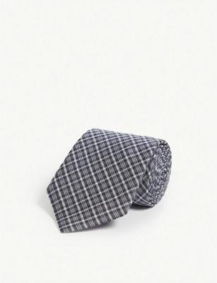 GIEVES & HAWKES Check silk tie