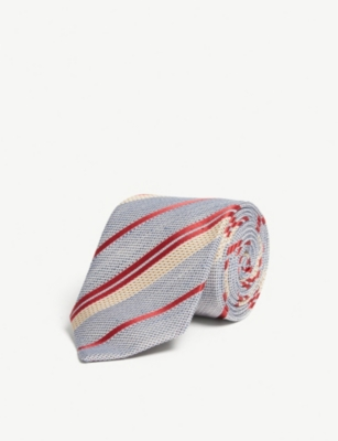 GIEVES & HAWKES Striped silk-blend tie