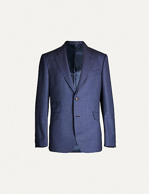 GIEVES & HAWKES Regular-fit single-breasted virgin wool blazer