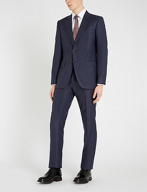 GIEVES & HAWKES Regular-fit wool and silk-blend suit