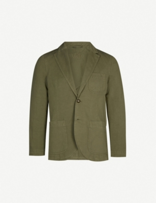 GIEVES & HAWKES Cotton-linen blend blazer