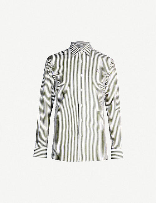 GIEVES & HAWKES Striped regular-fit cotton shirt