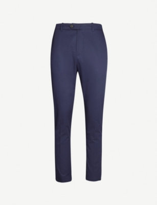 GIEVES & HAWKES Slim-fit straight cotton chinos