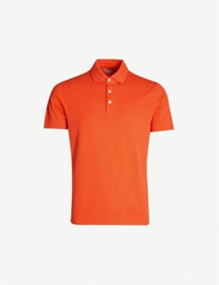 GIEVES & HAWKES Logo-embroidered cotton-piqué polo shirt