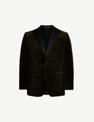 GIEVES & HAWKES Regular-fit velvet blazer