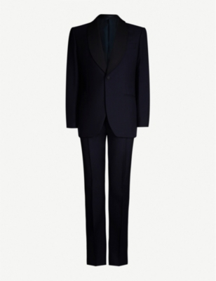 GIEVES & HAWKES Regular-fit birdseye wool and mohair-blend suit