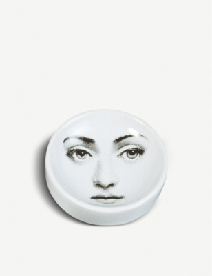 FORNASETTI Themes and Variations round porcelain ashtray 12cm