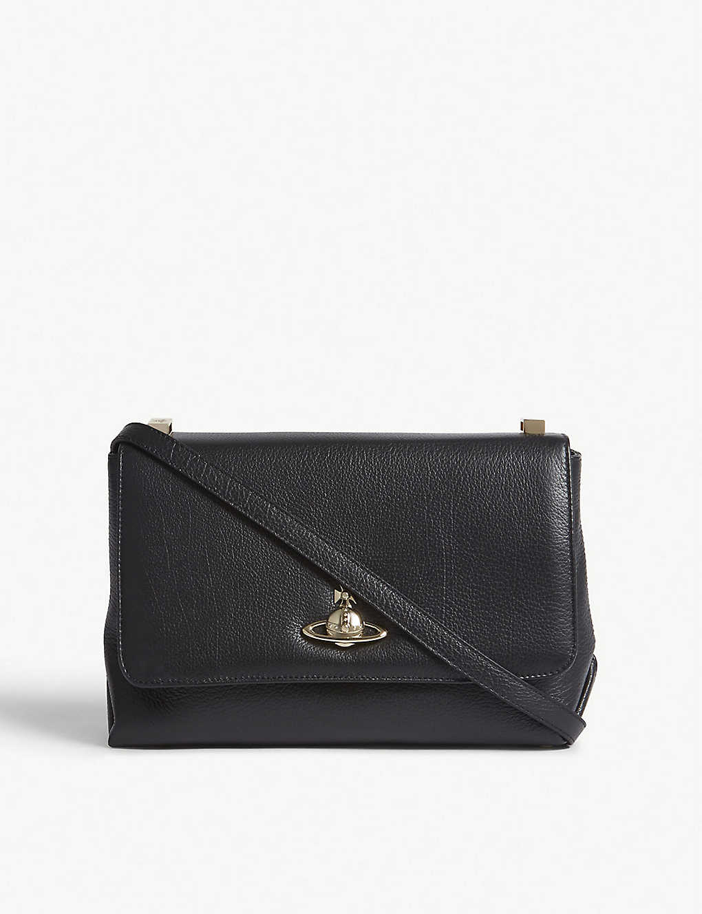bb3bb5ec65 VIVIENNE WESTWOOD - Balmoral grained leather cross-body bag ...