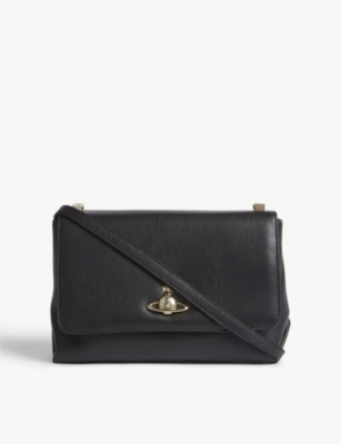 VIVIENNE WESTWOOD Balmoral grained leather cross-body bag