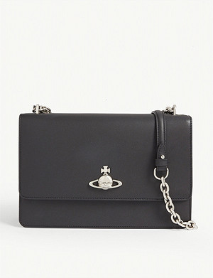 VIVIENNE WESTWOOD Florence large leather shoulder bag