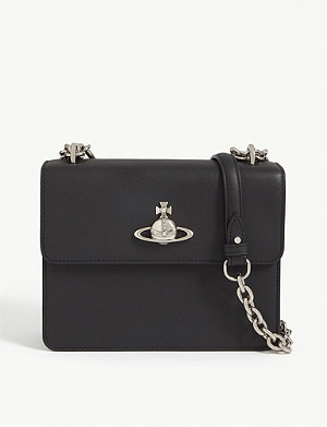 VIVIENNE WESTWOOD Florence medium leather shoulder bag