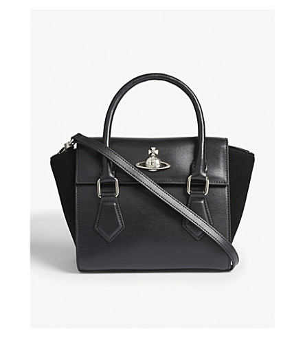 ... VIVIENNE WESTWOOD Matilda small leather shoulder bag (Black.  PreviousNext af9d14a72b8d6