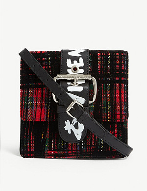 VIVIENNE WESTWOOD Alex small tartan cross-body bag