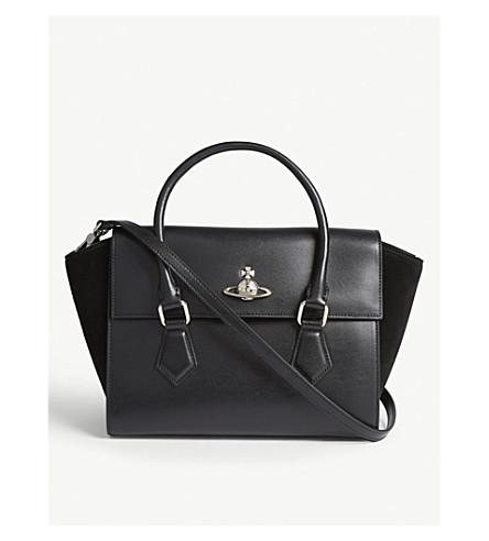 ... VIVIENNE WESTWOOD Matilda medium leather shoulder bag (Black.  PreviousNext 09bfcb349cdf2