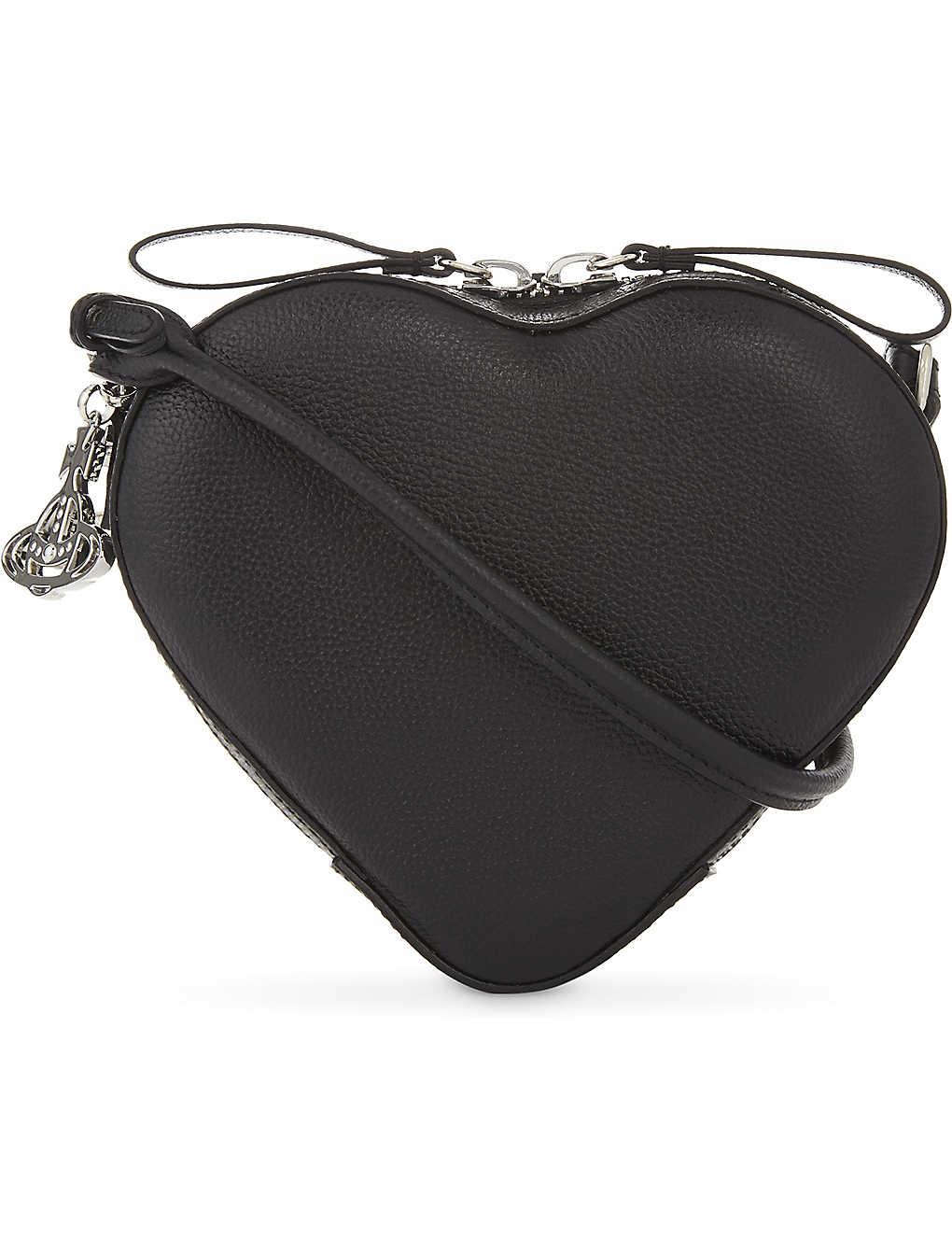 e2efafab14 VIVIENNE WESTWOOD Anglomania Johanna small heart leather cross-body bag
