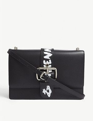 VIVIENNE WESTWOOD Alex graffitti trim leather cross-body bag