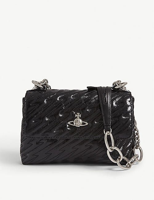 645233585780 VIVIENNE WESTWOOD Coventry metallic leather cross-body bag