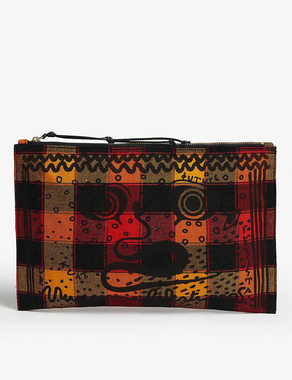 8bb0684901 VIVIENNE WESTWOOD - Maasai Suka Greek eyes checked canvas pouch ...