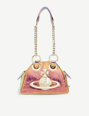VIVIENNE WESTWOOD Yasmine iridescent leather shoulder bag
