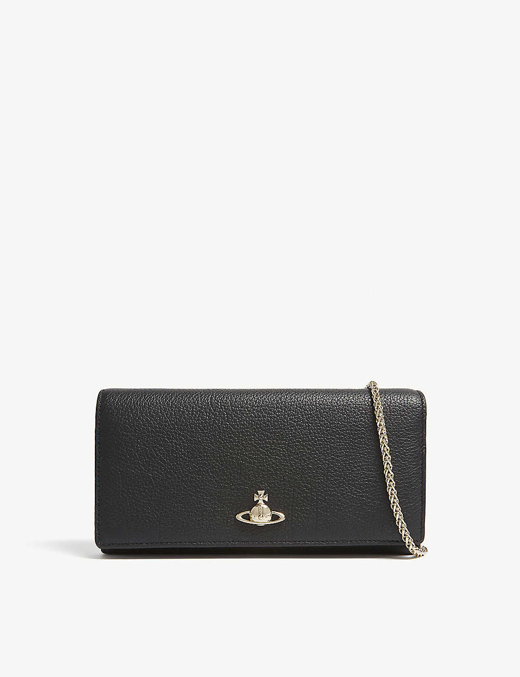 7b80cdc927 VIVIENNE WESTWOOD - Balmoral grained leather wallet-on-chain ...