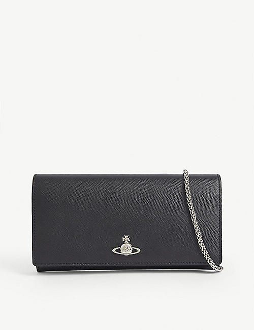 VIVIENNE WESTWOOD: Pimlico leather wallet-on-chain