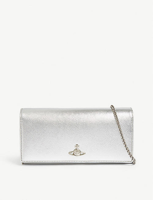58506ca12774 VIVIENNE WESTWOOD Pimlico metall leather wallet-on-chain