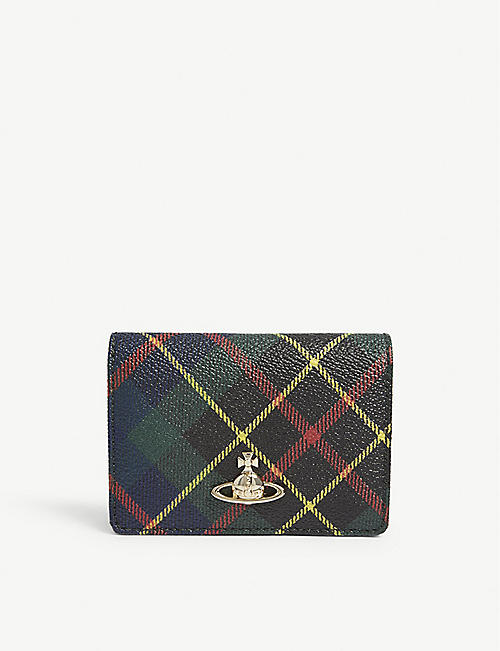 adcea785fa VIVIENNE WESTWOOD Derby tartan leather card holder