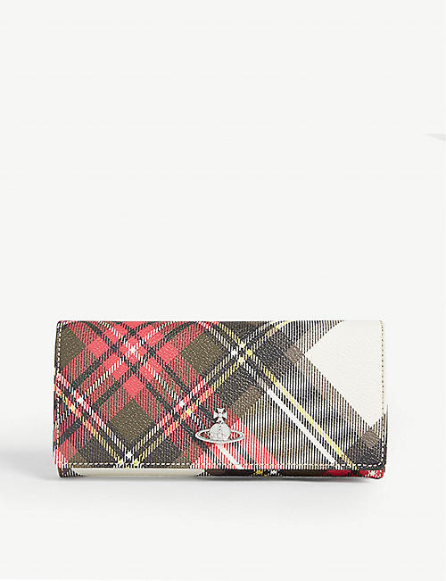 VIVIENNE WESTWOOD Derby faux-leather credit card wallet