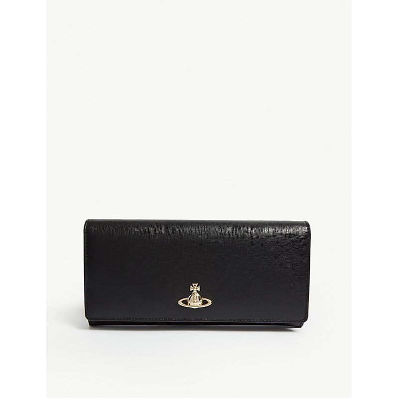 VIVIENNE WESTWOOD Victoria Classic Leather Wallet in Black