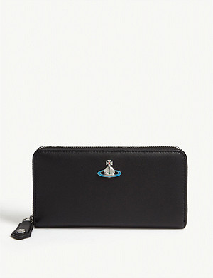 VIVIENNE WESTWOOD Orb logo leather continental wallet