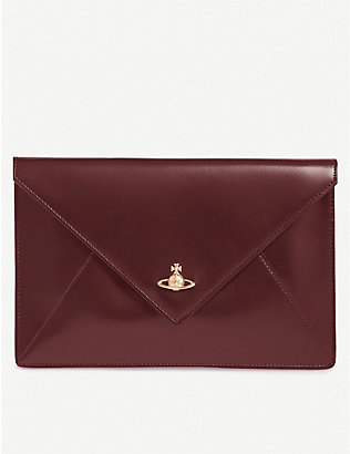 VIVIENNE WESTWOOD: Private leather envelope pouch