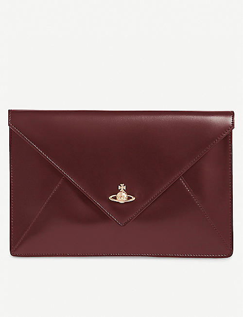 d849f97e8b VIVIENNE WESTWOOD Private leather envelope pouch