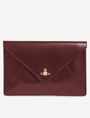 VIVIENNE WESTWOOD Private leather envelope pouch