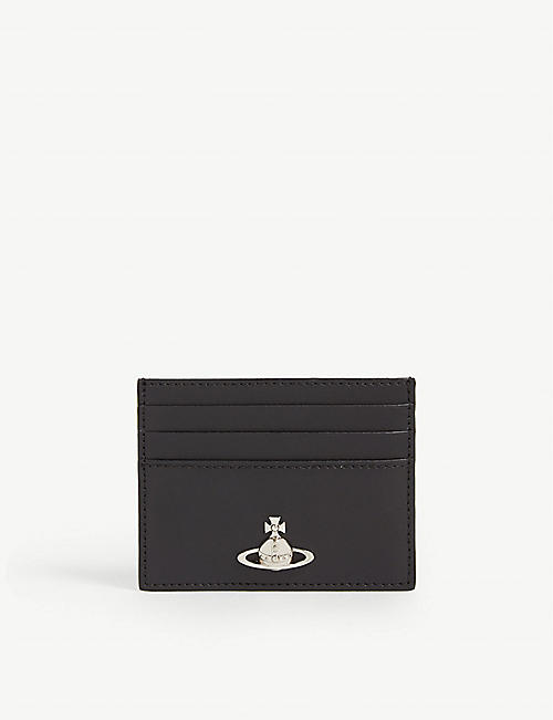 VIVIENNE WESTWOOD Alex Orb sigil leather card holder