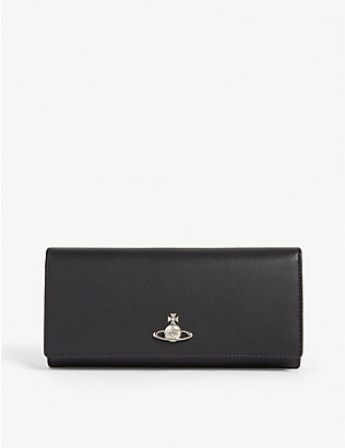 VIVIENNE WESTWOOD: Logo-embellished leather wallet