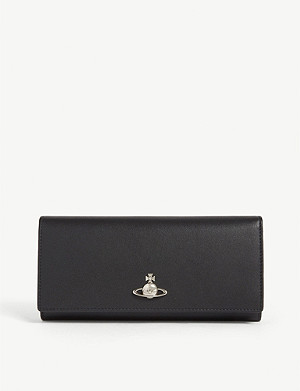 VIVIENNE WESTWOOD Logo-embellished leather wallet