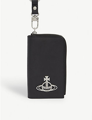 VIVIENNE WESTWOOD: Betty leather cardholder on chain