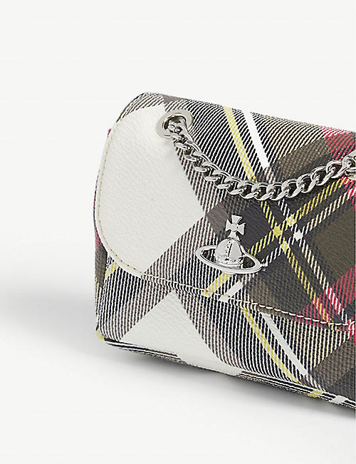 VIVIENNE WESTWOOD New Exhibition tartan purse on chain